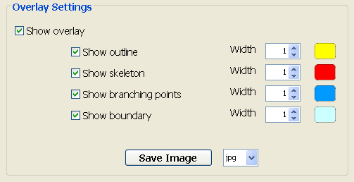overlay settings control